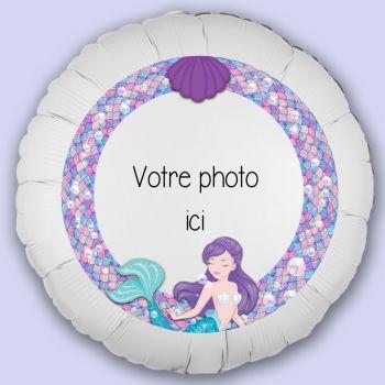 Ballon personnalisé décor Sirène