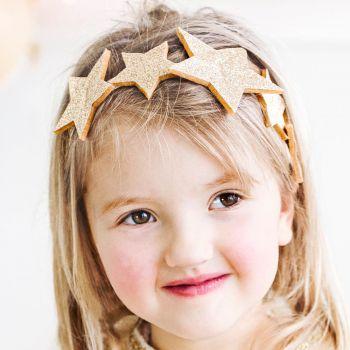 Headband étoiles or pailleté