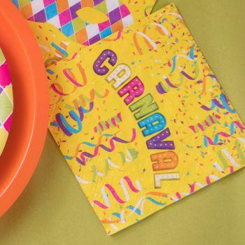 20 Serviettes en papier Carnaval