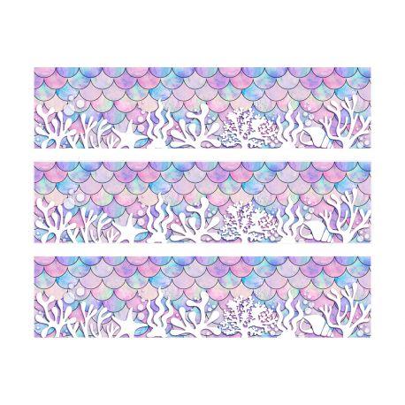 Bandes de sucre pour décorer le contour de vos gâteaux. Livré en 3 bandes de 27 cm de long et 6.5 cm de haut Permet de faire le tour...
