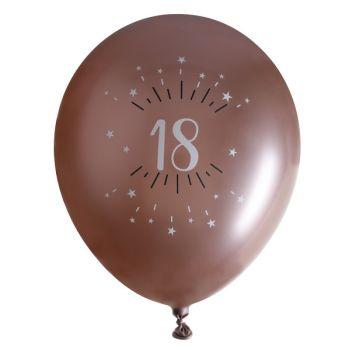 10 Ballons étincellant gold rose 18 ans