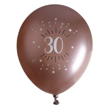 10 Ballons étincellant gold rose 30 ans