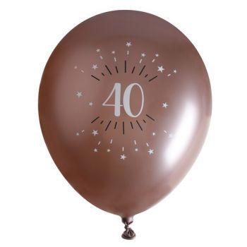 10 Ballons étincellant gold rose 40 ans