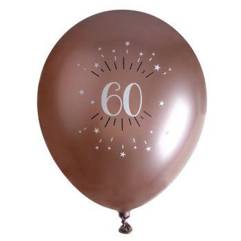 10 Ballons étincellant gold rose 60 ans