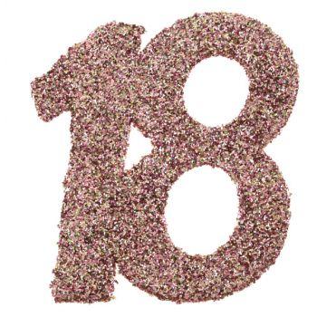 6 Confettis géant gold rose pailleté 18 ans