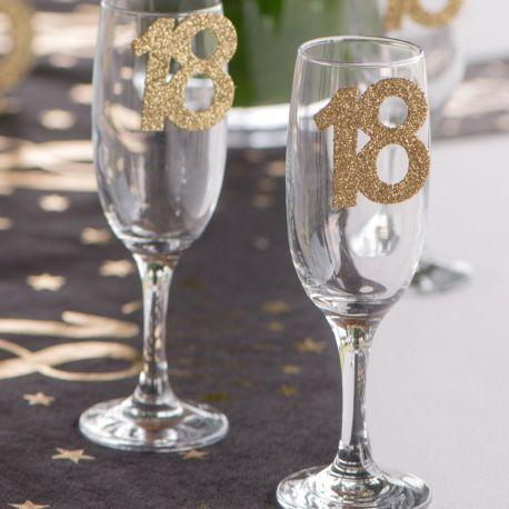 6 Confettis géant pailleté gold rose 18 ansParfait pour la deco de votre table de fête d'anniversaire.Dimensions :6 x 5 cm