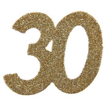 6 Confettis géant or pailleté 30 ans