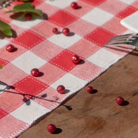 Sachet de 50 mini boules en polystyrène pailletés avec sequins rouge à parsemer sur vos tables de fêtesØ 1 cm