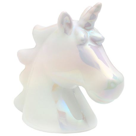 Tirelire Licorne irisé pour votre decode table d'anniversaire ou pour offrir.Dimensions : 10 x 8 x 15 cm