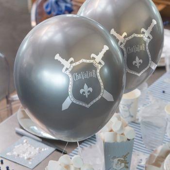 6 Ballons anniversaire chevalier