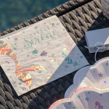 20 Serviettes en papier sirène