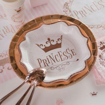 10 Assiettes carton princesse