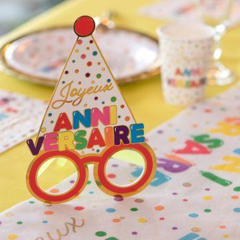 Lunette Joyeux Anniversaire Color gold