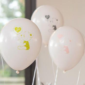 8 Ballons anniversaire Joyeux Anniversaire 1 an