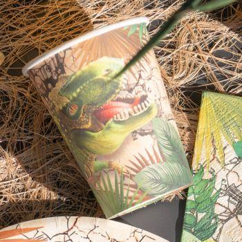 10 Gobelets carton Dinosaure