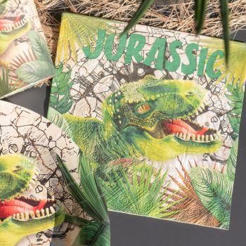 20 Serviettes en papier Dinosaure