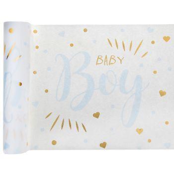 Chemin de table Baby Boy gold