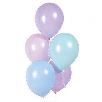10 ballons pastel macaron