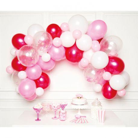 Réaliser une superbe arche en ballons aux tons bleue pour votre fête d'anniversaire ou mariage avec ce kit contenant:15 Ballons blanc...