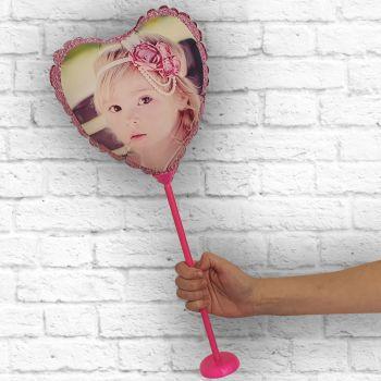 Ballon personnalisé cadre paillette rose