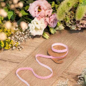 Ruban de tissu adhésif dentelle rose
