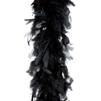 Boa plume noir