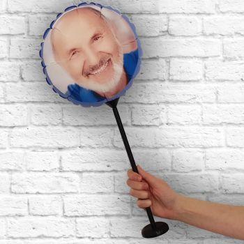 Ballon rond personnalisé cadre bleu Ø 28 cm