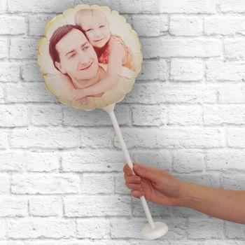 Ballon rond personnalisé cadre jaune Ø 28 cm