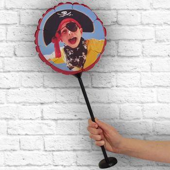 Ballon rond personnalisé cadre rouge Ø 28 cm