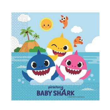 20 Serviettes compostable Baby Shark