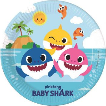 8 Assiettes compostable Baby Shark