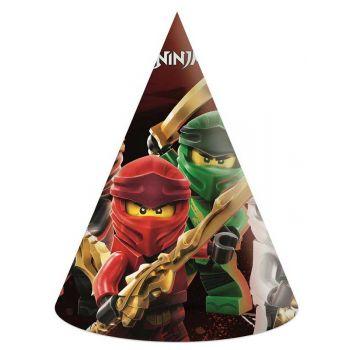 6 chapeaux de fête compostable Lego Ninjago