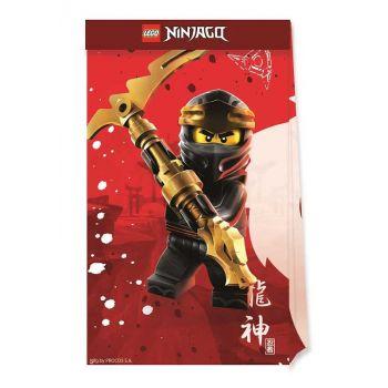 4 Sac cadeaux compostable Lego Ninjago