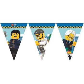 1 Guirlande fanions compostable Lego City