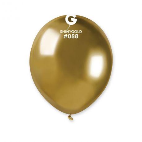 50 petits Ballons en latex de couleur métallisés shiny or idéal pour vos décoration de fête et d'anniversaire, permet également...