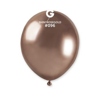 50 Ballons shinny métallisés rose gold Ø13cm