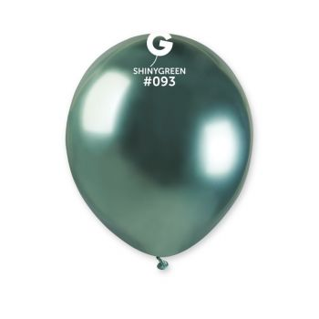 50 Ballons shinny métallisés vert Ø13cm