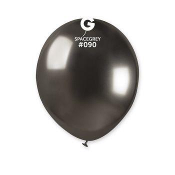 50 Ballons shinny métallisés noir Ø13cm