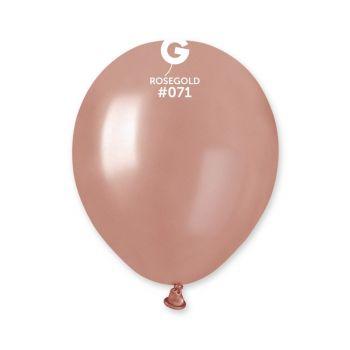 50 Ballons métallisés rose gold Ø13cm