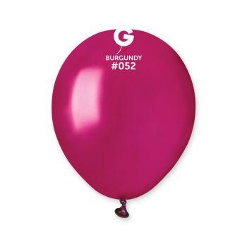 50 Ballons métallisés bordeaux Ø13cm