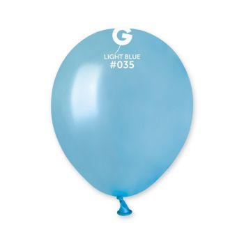 50 Ballons métallisés lagon Ø13cm