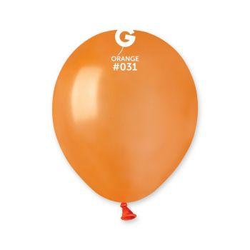 50 Ballons métallisés orange Ø13cm