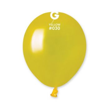50 Ballons métallisés jaune Ø13cm