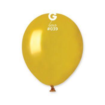 50 Ballons métallisés or Ø13cm