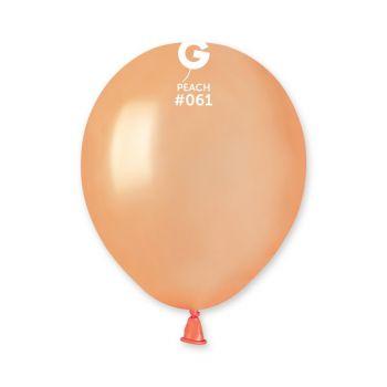 50 Ballons métallisés pêche Ø13cm