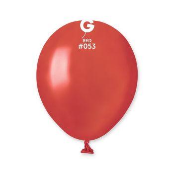 50 Ballons métallisés rouge Ø13cm