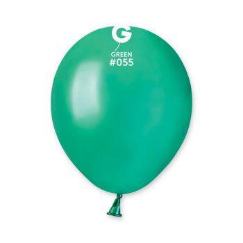 50 Ballons métallisés vert sapin Ø13cm