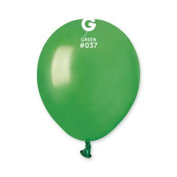 50 Ballons métallisés vert Ø13cm