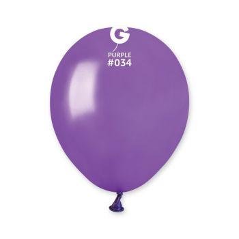 50 Ballons métallisés violet Ø13cm