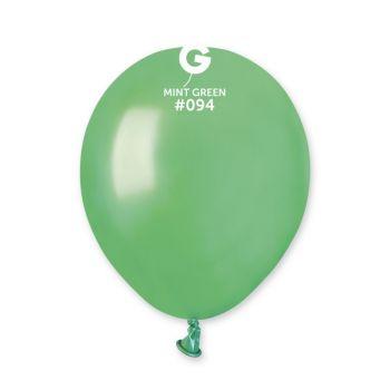 50 Ballons métallisés mint Ø13cm